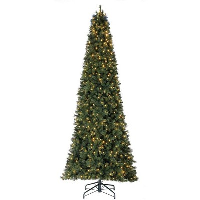 Home Heritage 12' Cascade Cashmere Quick Set Christmas Tree with Changing Lights
