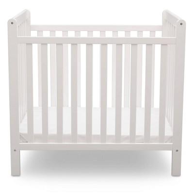 Delta Children Classic Convertible 2-in-1 Mini Baby Crib with 2.75-inch Crib Mattress