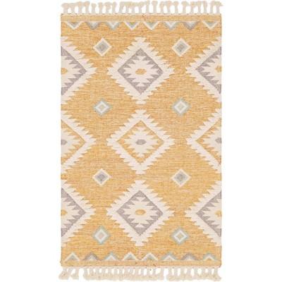 5'x8' Mesa Rug Yellow/Ivory - Unique Loom