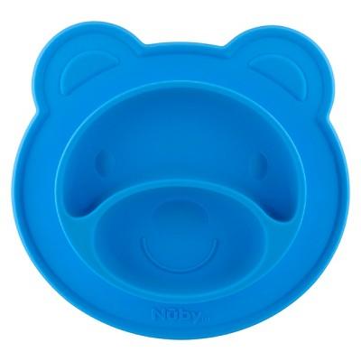 Nuby Bear silicone feeding mat - Blue