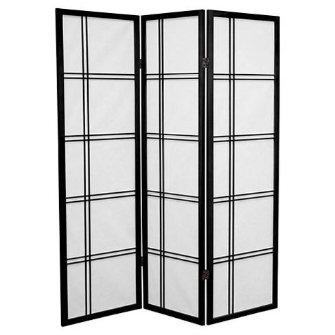 5 ft. Tall Double Cross Shoji Screen (3 Panels) - Oriental Furniture - image 1 of 1