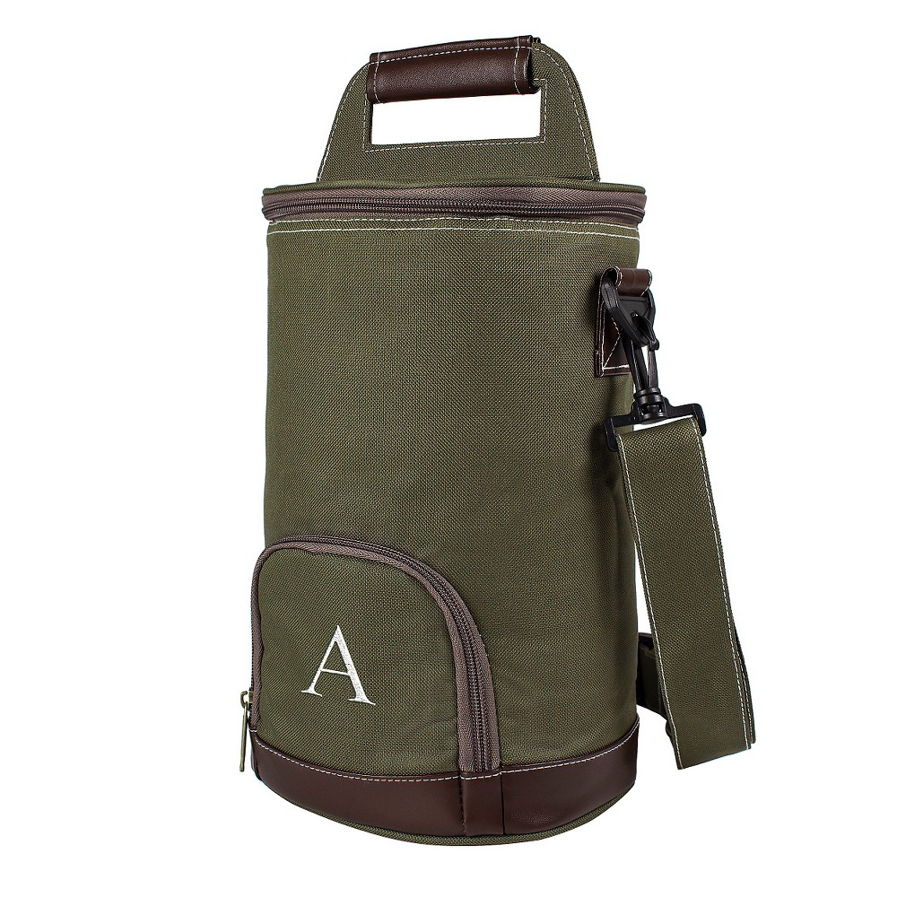 Monogram Groomsmen Gift Insulated Growler With Beverage Cooler - A, Green