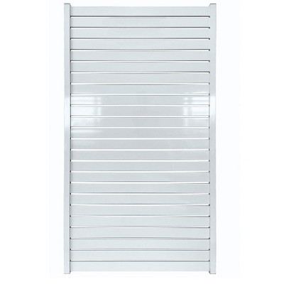 Stratco SC-10662 Powder-Coated Aluminum 71 x 39 inch Quick Screen, Non-Weld Adjustable Outdoor Horizontal Slat Gate Fencing, White
