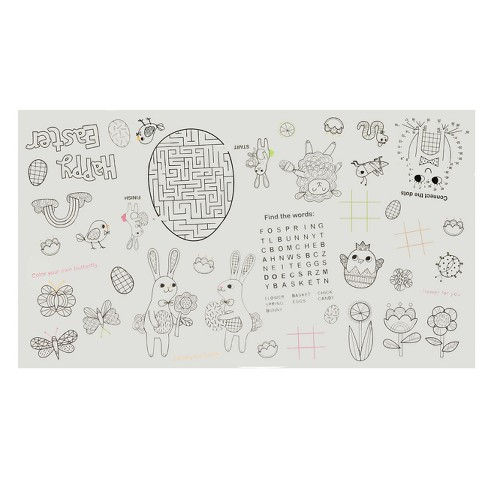 Easter Color-In Oblong Table Cover 33.75''x60'' - Spritz™ - image 1 of 1