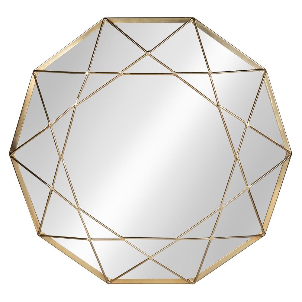 "Image of ""Keyleigh Metal Decorative Wall Mirror 25"""" - Kate & Laurel, Gold"""