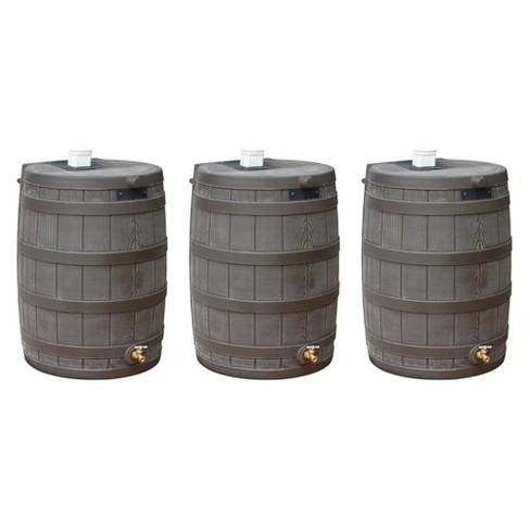 Good Ideas Rain Wizard 50 Gallon Plastic Rain Barrel with Brass Spigot (3 Pack) - image 1 of 4