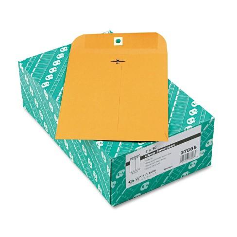 Quality Park Clasp Envelope 7 x 10 28lb Brown Kraft 100/Box 37868 - image 1 of 1