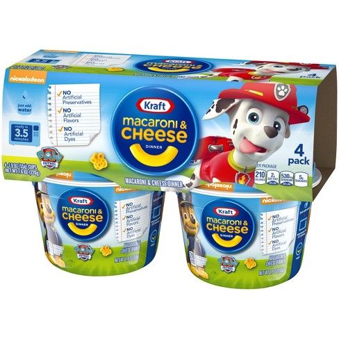 Kraft Paw Patrol Shapes Mac Cheese 4pk Cups 76oz Target