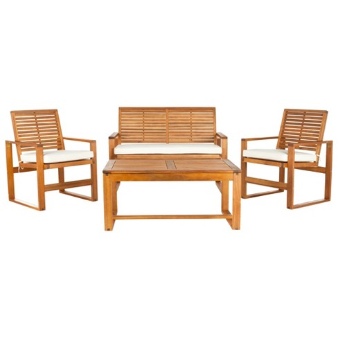 Ozark 4pc Patio Seating Set - Safavieh - image 1 of 3