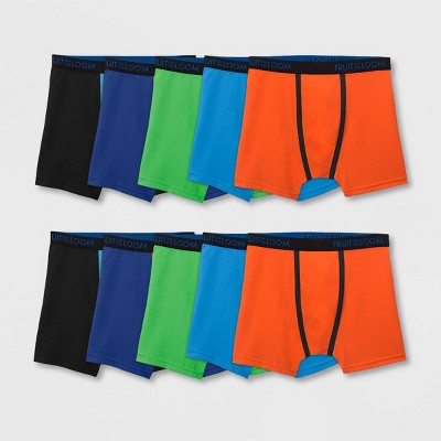 Fruit of the Loom Boys' 10pk Breathable Micro-Mesh Boxer Briefs - Colors May Vary