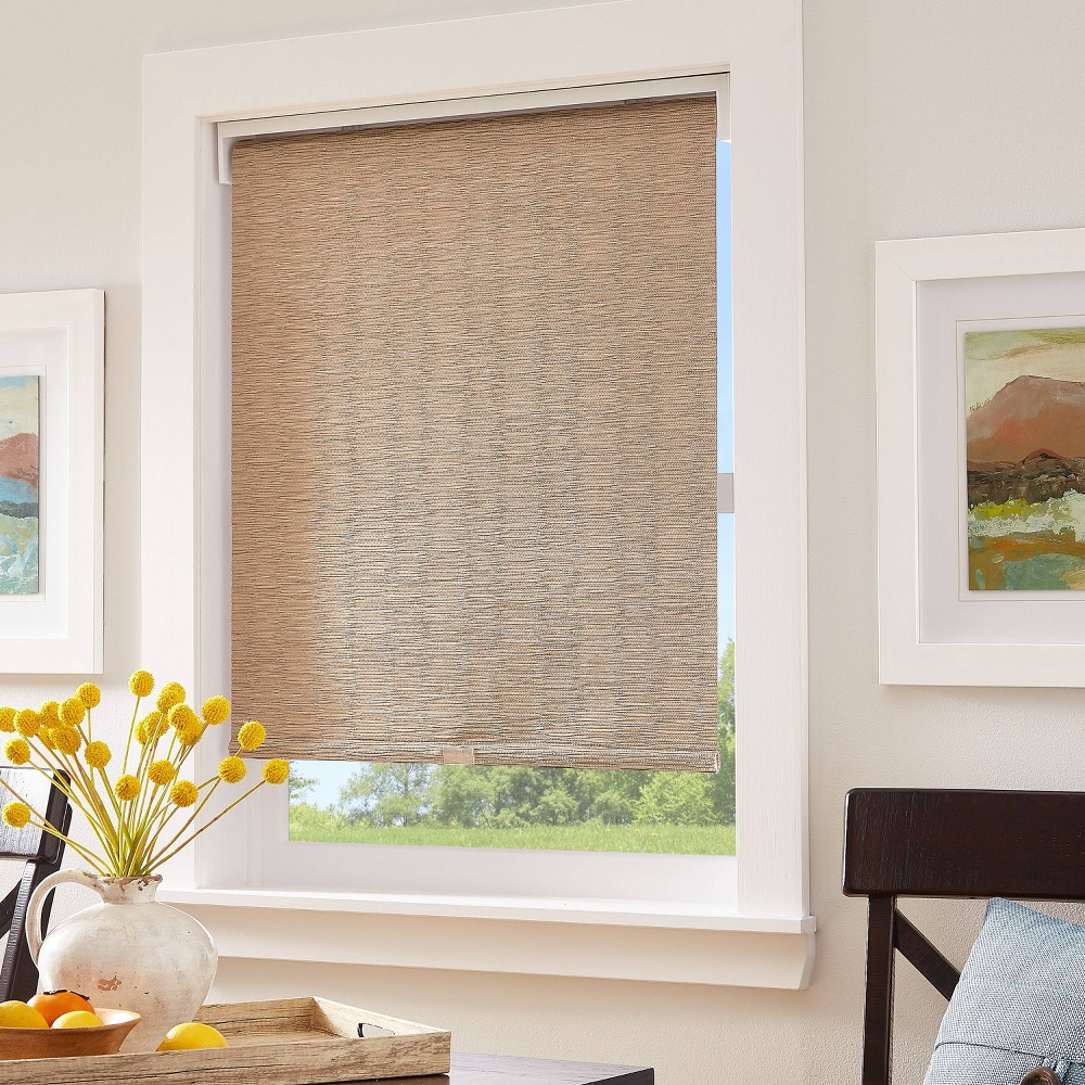 "Image of ""23""""x64"""" Light Filtering Window Shade Panel Linen - CHF Industries, Beige"""