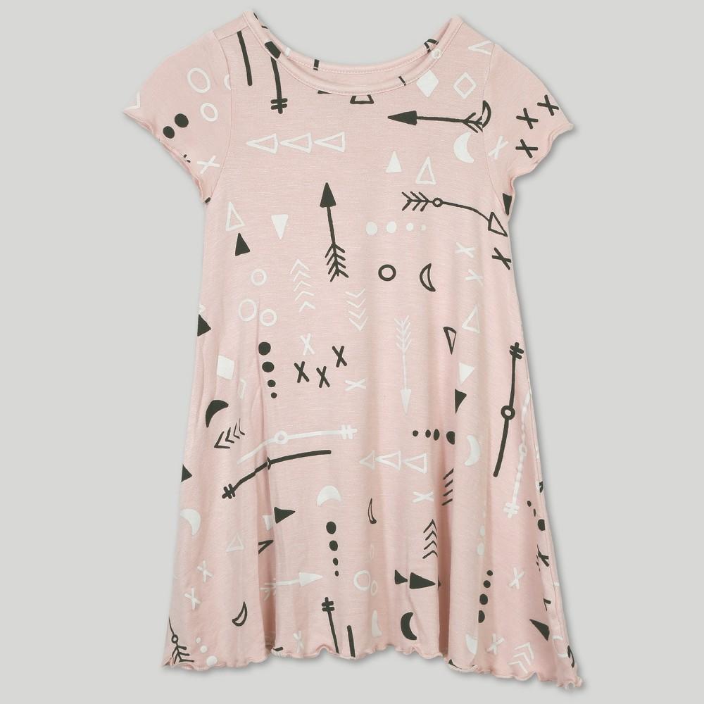 Image of petiteAfton Street Toddler Girls' Short Sleeve Dress - Pink 12M, Girl's