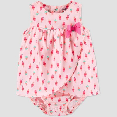 Baby Girls' One Piece Ice Cream Romper - Just One You® made by carter's Pink 12M