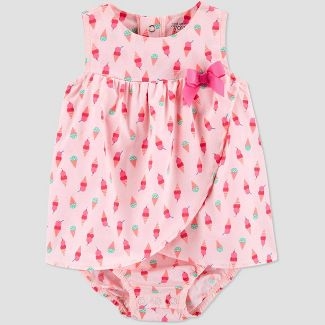 Baby Girls' One Piece Ice Cream Romper - Just One You® made by carter's Pink 3M