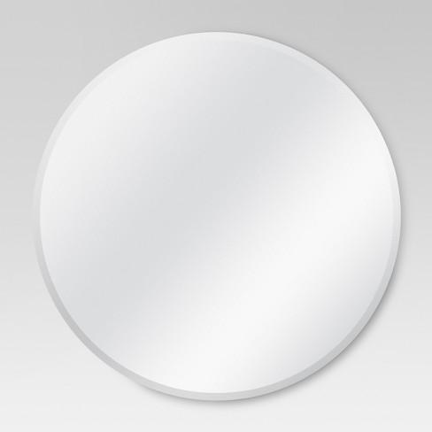 Round Frameless Decorative Wall Mirror Threshold