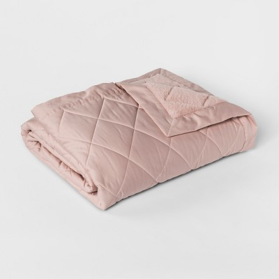 Full/Queen Luxury Bed Blanket Pink - Fieldcrest®