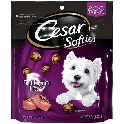 Cesar Softies Beef and Filet Mignon Flavor Chewy Dog Treats - 18oz