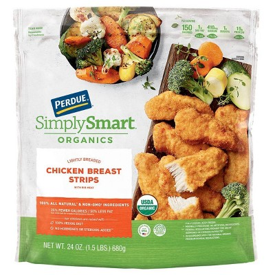 Perdue Simply Smart Organics Lightly Breaded Chicken Breast Strips - Frozen - 24oz