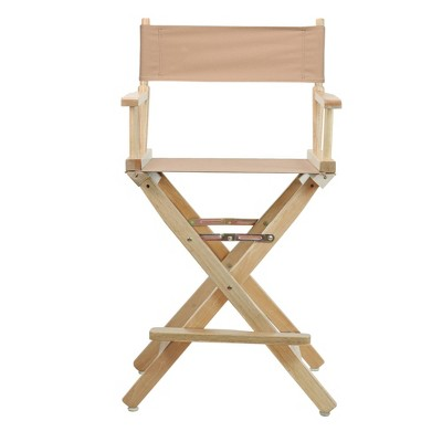 Director's Chair Counter Height Canvas Tan/Natural Flora Homes