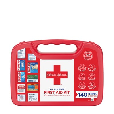 Johnson & Johnson All-Purpose Portable Compact First Aid Kit - 140pc