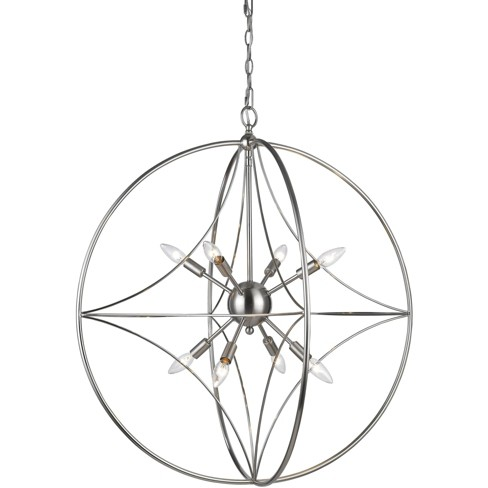 "Z-Lite Cortez 8 Light 30"" Wide Pendant with Suspended Star Design - image 1 of 1"