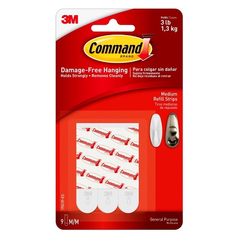 Command® Medium Mounting Strips - 9pk - image 1 of 2