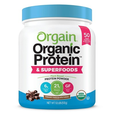 Orgain Organic Vegan Protein & Superfoods Powder - Chocolate - 16oz