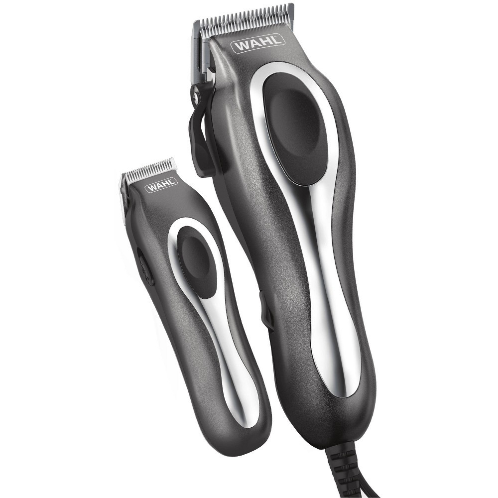 Wahl Deluxe Chrome Pro Complete Men 39 S Haircut Kit With Finishing Trimmer 38 Soft Storage Case 79650 1301