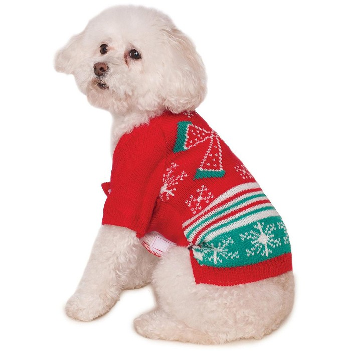 Rubies Ugly Sweater With Bow Big Dog Pet Costume : Target