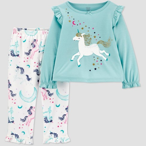 Toddler Girls' Unicorn Pajama Set - Just One You® made by carter's Blue/White - image 1 of 1
