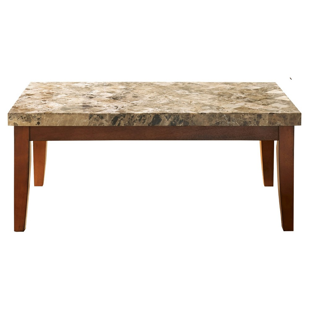 Montibello Cocktail Table Brown Faux Marble - Steve Silver