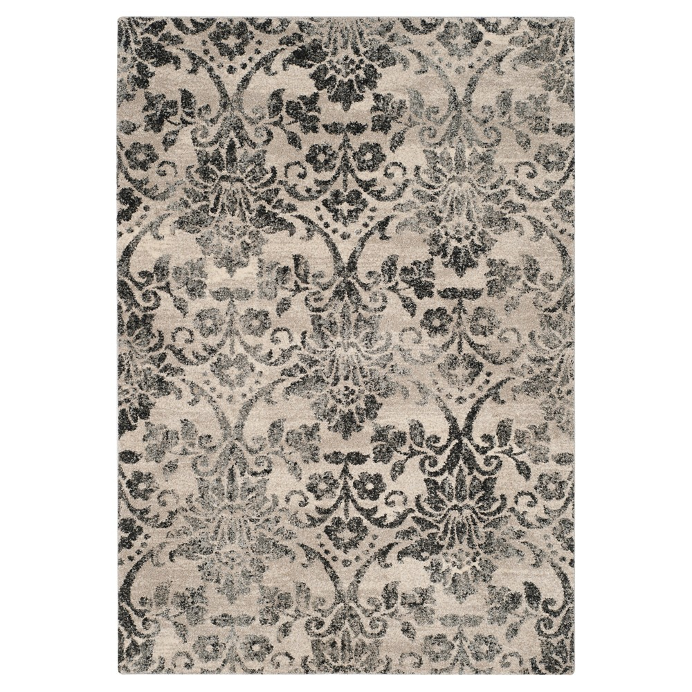 Cream/Gray Abstract Loomed Accent Rug - (2'6x4') - Safavieh, Beige