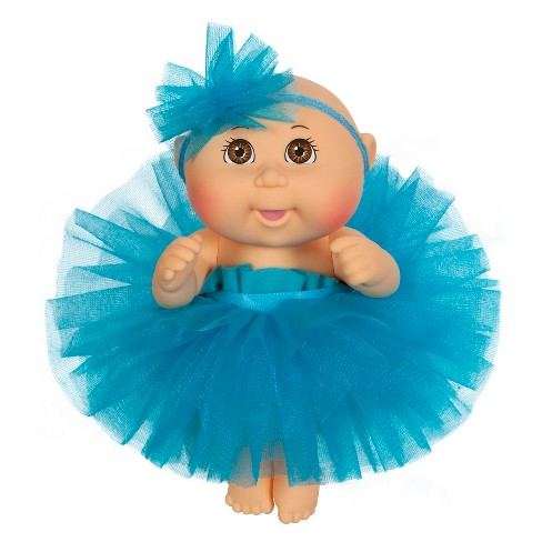 "Cabbage Patch Kids Tiny Newborn Baby Doll - Blue Tutu - Brown Eyes 9"" - image 1 of 1"