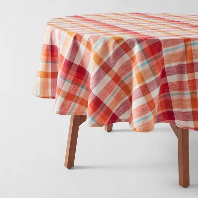 Cotton Plaid Tablecloth Pink - Opalhouse™