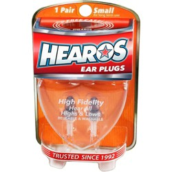 Hearos High Fidelity-Series Long-Term Earplugs (1 Pair)