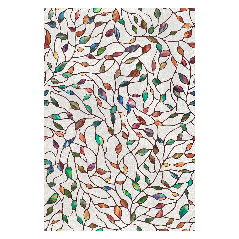 "Image of ""24""""x36"""" New Leaf Window Film - Artscape, Multi-Colored"""