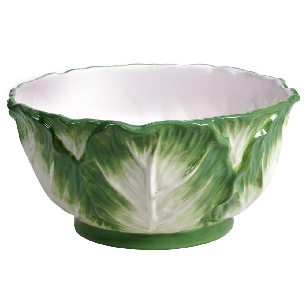 Image of 112oz Earthenware English Garden Serving Bowl - Certified International