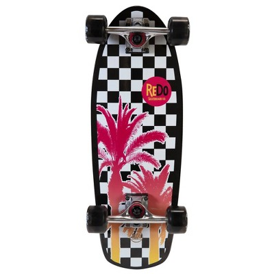 ReDo Skateboard Shorty Cruiser Palm Checkers Skateboard