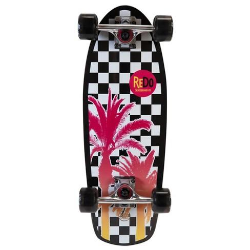 ReDo Skateboard Shorty Cruiser Palm Checkers Skateboard - image 1 of 4