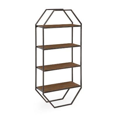 Adela Wood/Metal Decorative Wall Shelf - Kate & Laurel All Things Decor