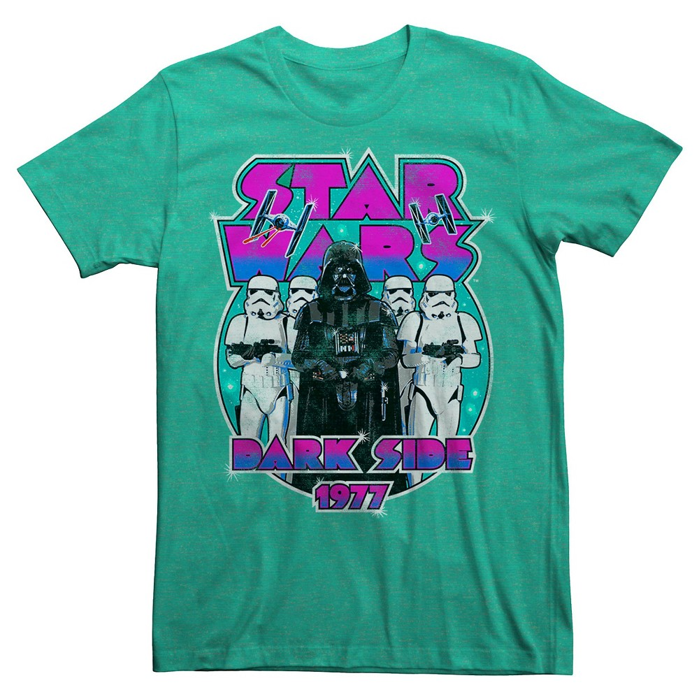 Men's Star Wars Dark Side 1977 T-Shirt - Green XL
