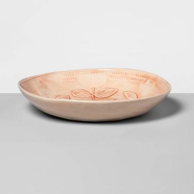 "10.6"" x 4.3"" Ceramic Round Serving Bowl Pink - Wonki Ware for Opalhouse™"