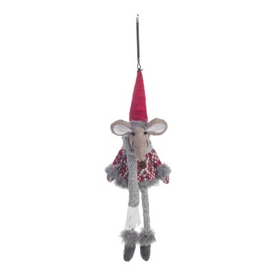 Gallerie II Jumping Mouse In Sweater Christmas Xmas Ornament