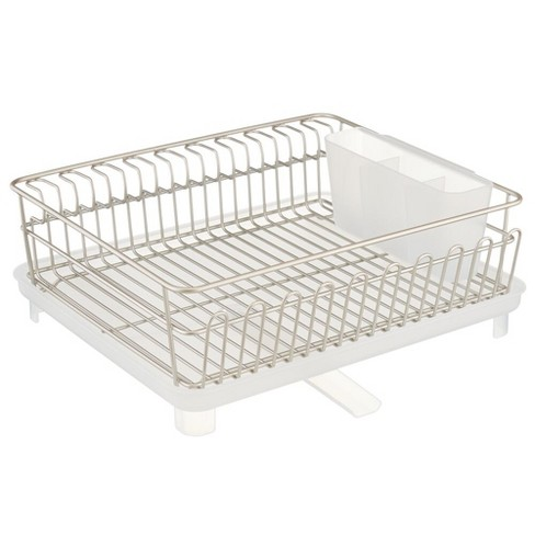 mDesign Kitchen Dish Drying Rack with Swivel Spout, 3 Pieces - image 1 of 4