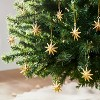 Large Set of Gold Star Ornaments - Threshold™ designed with Studio McGee - image 2 of 4