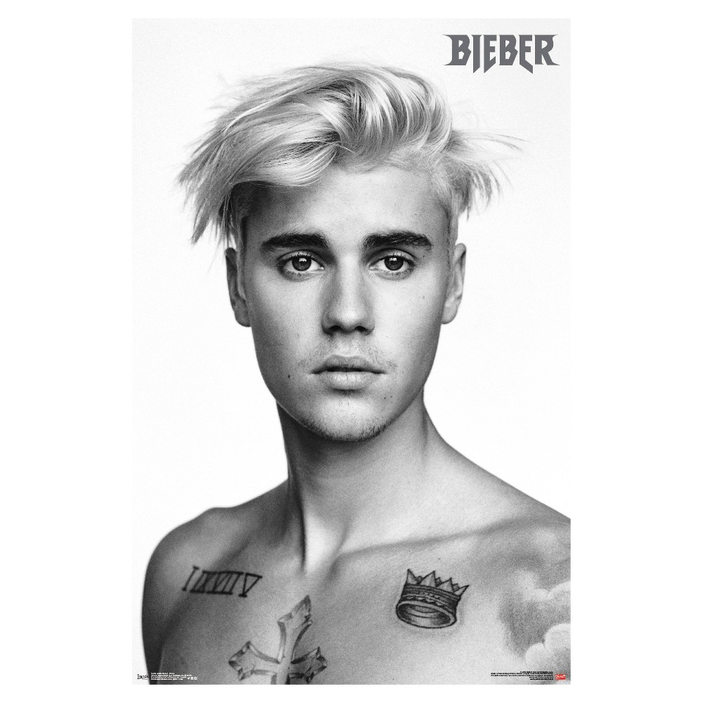 Justin Bieber Pinup Poster 34x22 - Trends International, Multi-Colored