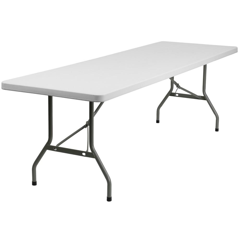 Riverstone Furniture Collection Plastic Fold Table Granite White