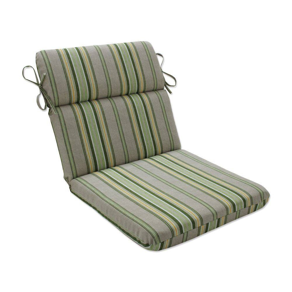 Outdoor Indoor Rounded Chair Pad Terrace Sunrise Green Pillow Perfect