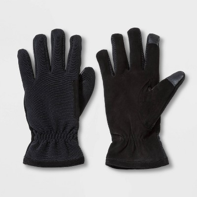 Men's Touch Tech Hybrid Leather Gloves - Goodfellow & Co™ Black
