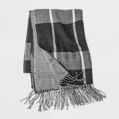 Men's Woven Scarf - Goodfellow & Co™ Charcoal Heather One Size